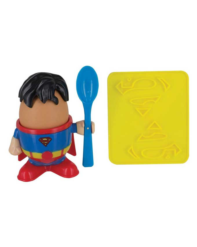 Stalak DC Comics Superman Egg Cup and Toast Cutter