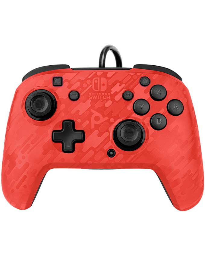 Gamepad PDP Nintendo Switch Faceoff Deluxe Controller + Audio Camo Red