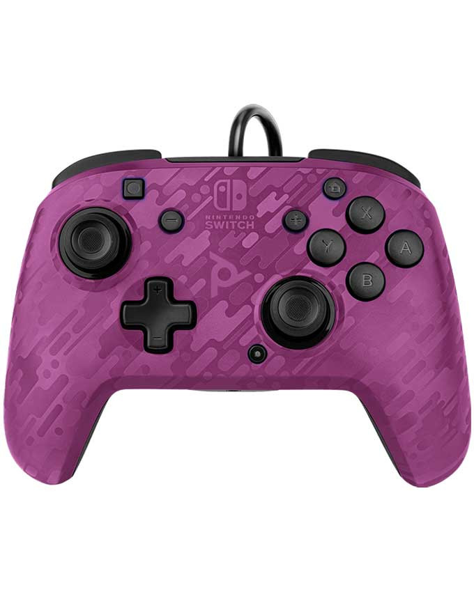 Gamepad PDP Nintendo Switch Faceoff Deluxe Controller + Audio Camo Purple