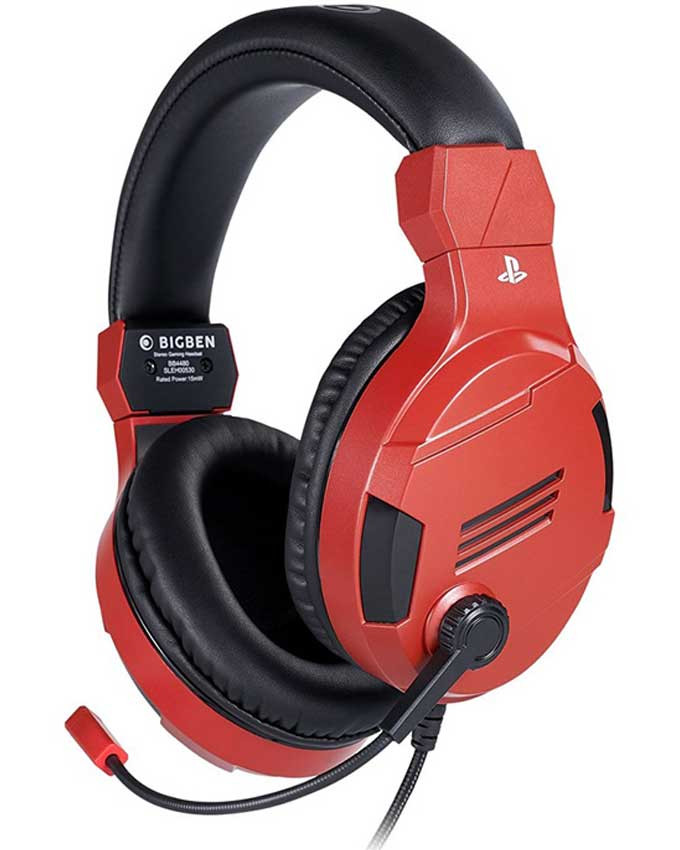Slušalice Bigben PS4 Wired Stereo Gaming Headset V3 Red