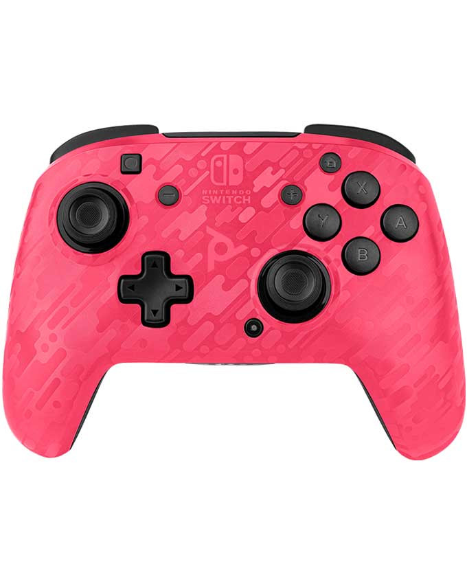 Gamepad PDP Nintendo Switch Faceoff Wireless Controller Camo Pink