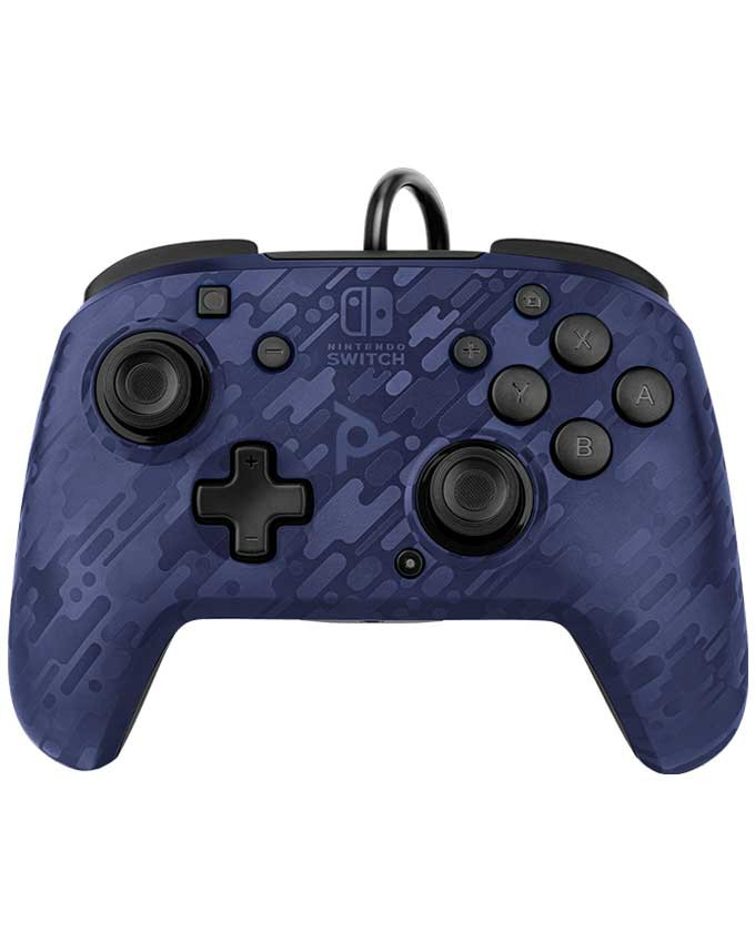 Gamepad PDP Nintendo Switch Faceoff Deluxe Controller + Audio Camo Blue