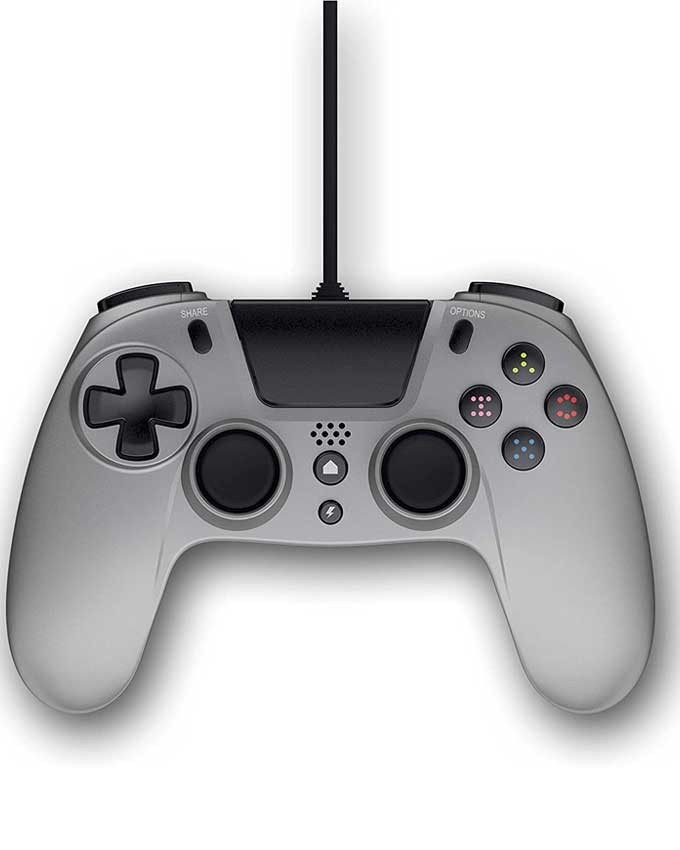 Gamepad Gioteck PS4 Wired Controller VX4 Titanium