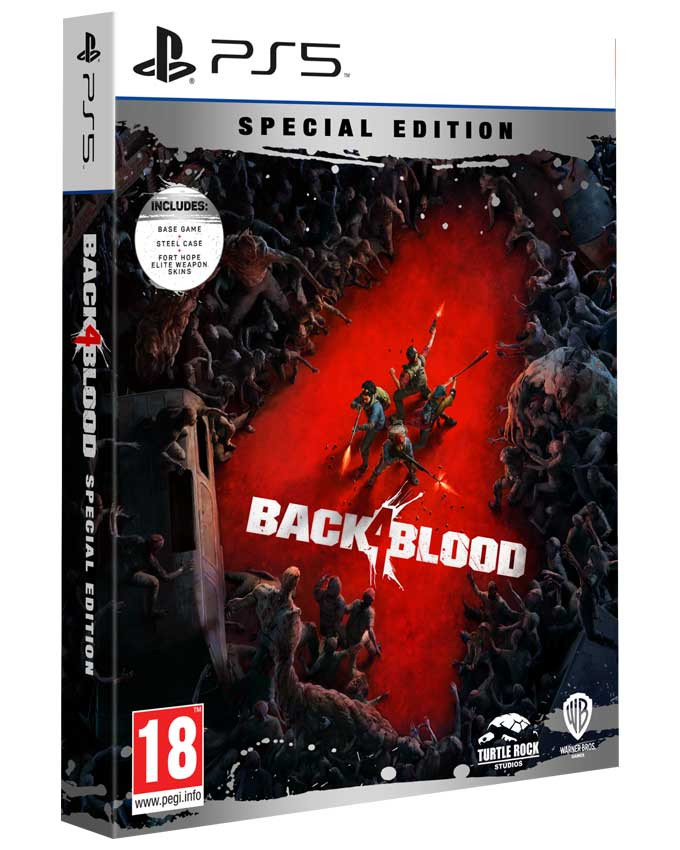 PS5 Back 4 Blood Steelbook Special Edition - Day One Edition