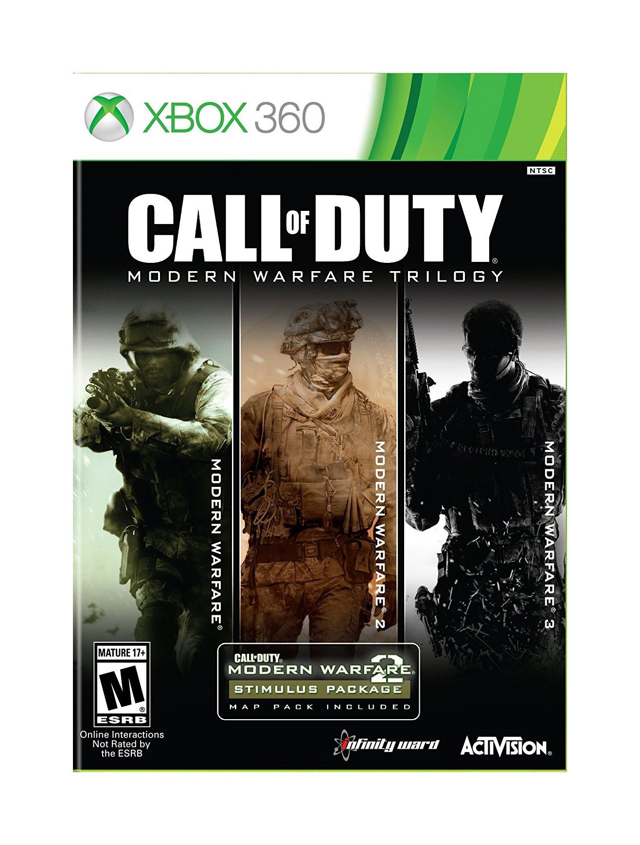 XBOX 360 Call of Duty - Modern Warfare Trilogy (MW1+MW2+MW3)