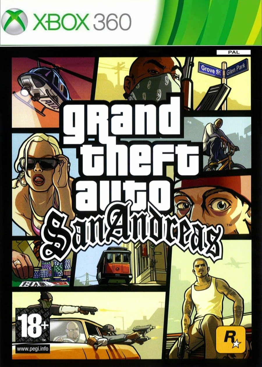XBOX 360 Grand Theft Auto San Andreas (GTA San Andreas)