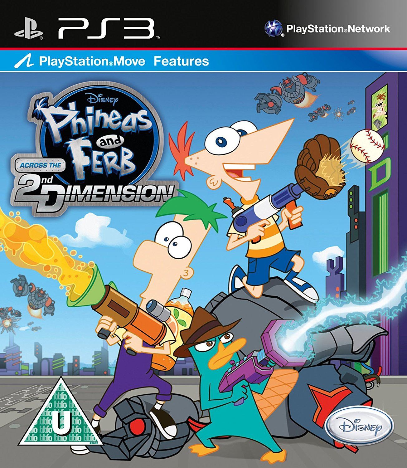PS3 Phineas and Ferb Across The 2nd Dimension MOVE