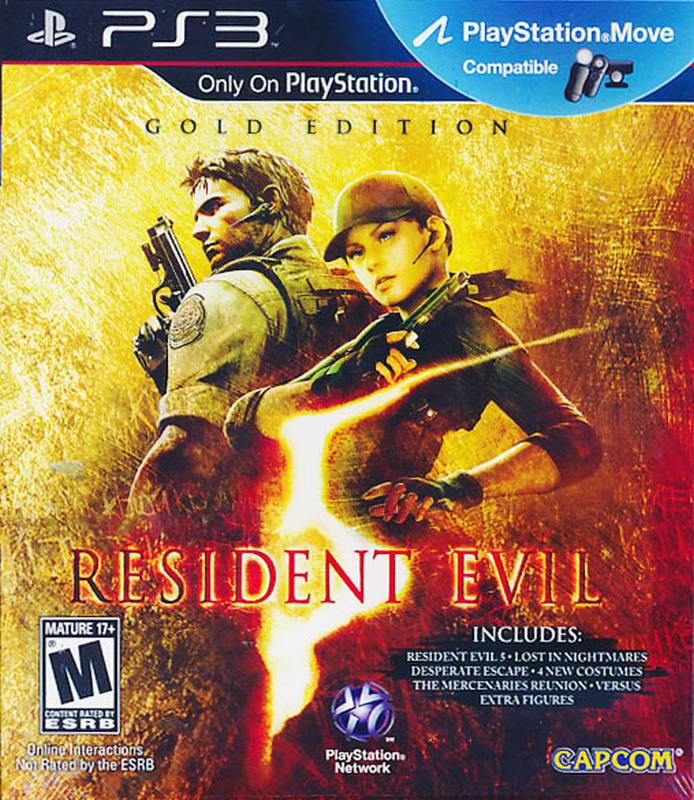 PS3 Resident Evil 5 Gold Edition