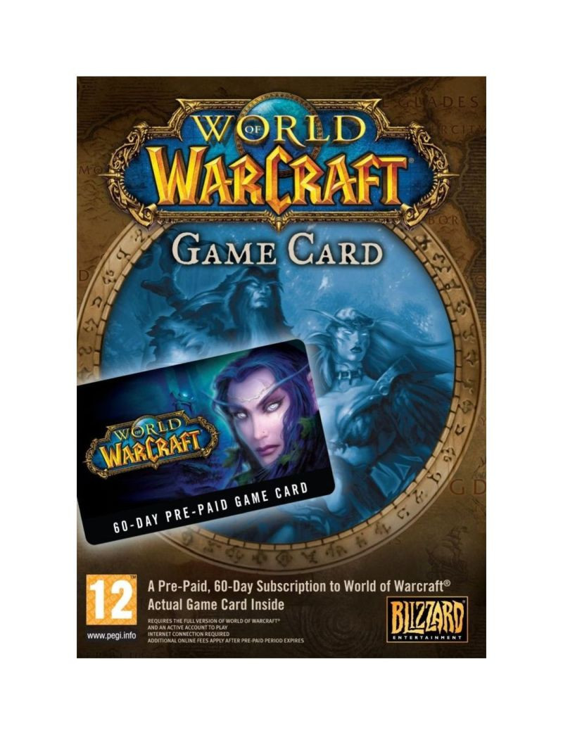 WOW Game Card - Blizzard 60 dana